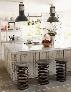 Rustic Spring Stools
