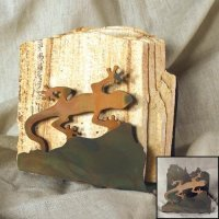 Tumbled Coaster Set: Gecko - Sandstone