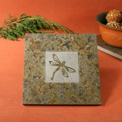 Natural Stone Trivet: Dragonfly
