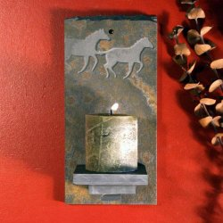 Candle Wall Sconce: Mustang - Horse