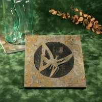 Real Stone Trivet: Butterfly