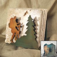 Tumbled Coaster Set: Hiker - Travertine