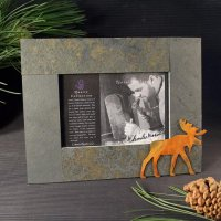 5x7 Rustic Photo Frame: Moose