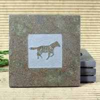Classic Stone Coaster: Mustang Horse