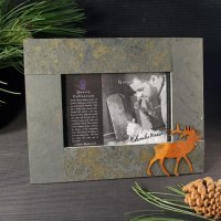 5x7 Rustic Photo Frame: Elk