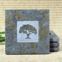 Classic Stone Coaster: Oak Tree