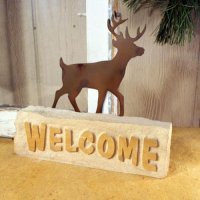 Welcome Door Stop: Deer