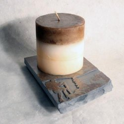 Coaster Candle Plate: Hiker