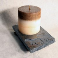 Coaster Candle Plate: Mustang - Horse