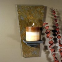 Wall Candle Sconce: Blank