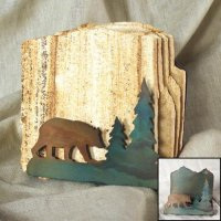 Tumbled Coaster Set: Bear - Sandstone