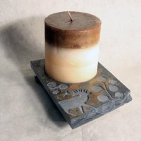 Coaster Candle Plate: Elk in Aspen