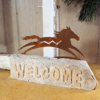 Welcome Door Stop: Spirit Horse