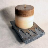 Coaster Candle Plate: Trees