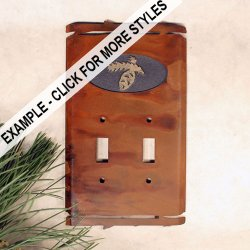 Switch Cover Plate: Pinecones