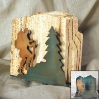 Tumbled Coaster Set: Hiker - Sandstone