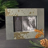 5x7 Rustic Photo Frame: Pinecone