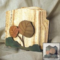 Tumbled Coaster Set: Leaf 2 - Sandstone