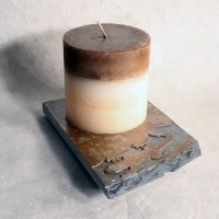 Coaster Candle Plate: Gecko