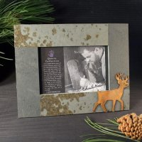 4x6 Rustic Photo Frame: Deer