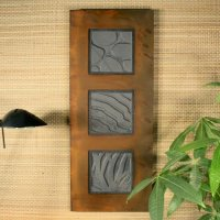 Wall Art Trio: Natura Trio: Patina Rust