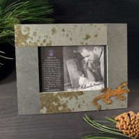 4x6 Rustic Photo Frame: Gecko