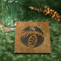 Real Stone Trivet: Pinecone