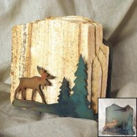 Tumbled Coaster Set: Moose - Sandstone