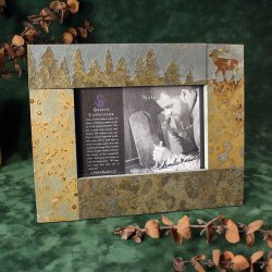 5x7 Picture Frame: Elk in Pine trees