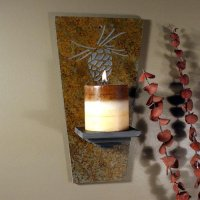 Wall Candle Sconce: Pinecone