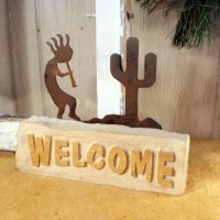 Welcome Door Stop: Kokopelli