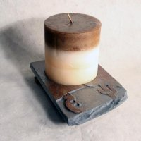 Coaster Candle Plate: Kokopelli