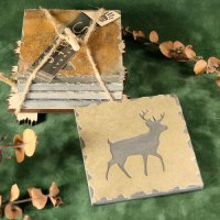 Quarry Coaster Set: Deer