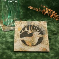 Real Stone Trivet: Elk Head