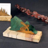 Business Card Holder: Pinecone
