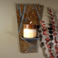 Wall Candle Sconce: Bamboo