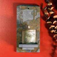 Candle Wall Sconce: Kokopelli