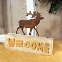 Welcome Door Stop: Elk