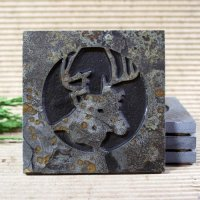 Medallion Coaster: Deer Head