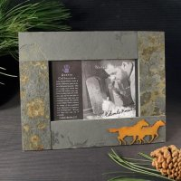 4x6 Rustic Photo Frame: Horse
