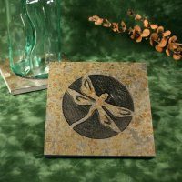 Real Stone Trivet: Dragonfly