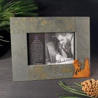 4x6 Rustic Photo Frame: Hiker