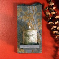 Candle Wall Sconce: Bamboo