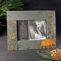 5x7 Rustic Photo Frame: Bear