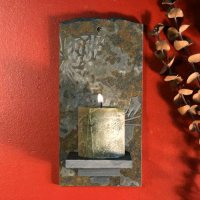 Candle Wall Sconce: Pinecones