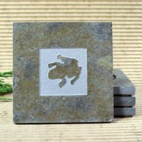 Classic Stone Coaster: Frog