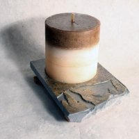 Coaster Candle Plate: Snowboarder