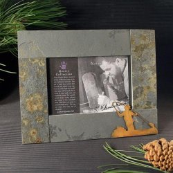 4x6 Rustic Photo Frame: Fly Fisherman