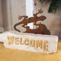 Welcome Door Stop: Gecko
