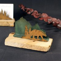 Business Card Holder: Bear in Trees